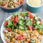 This Orzo Pasta Salad with Chicken Sausage is perfect for BBQs, potlucks, and parties. Serve it as a side dish or a light lunch or dinner.