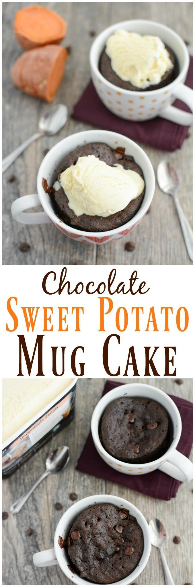 This Chocolate Sweet Potato Mug Cake recipe is a quick and easy way to satisfy your dessert craving!