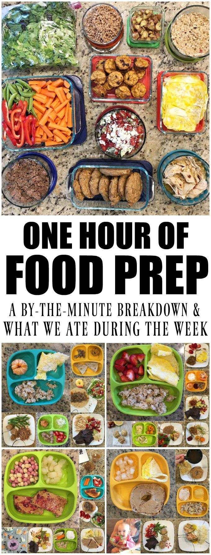 Here's a food prep session breakdown: An in-depth look at what I prepped, the order I did things in and how I got it all done in one hour! Plus a look at the meals we ate during the week.