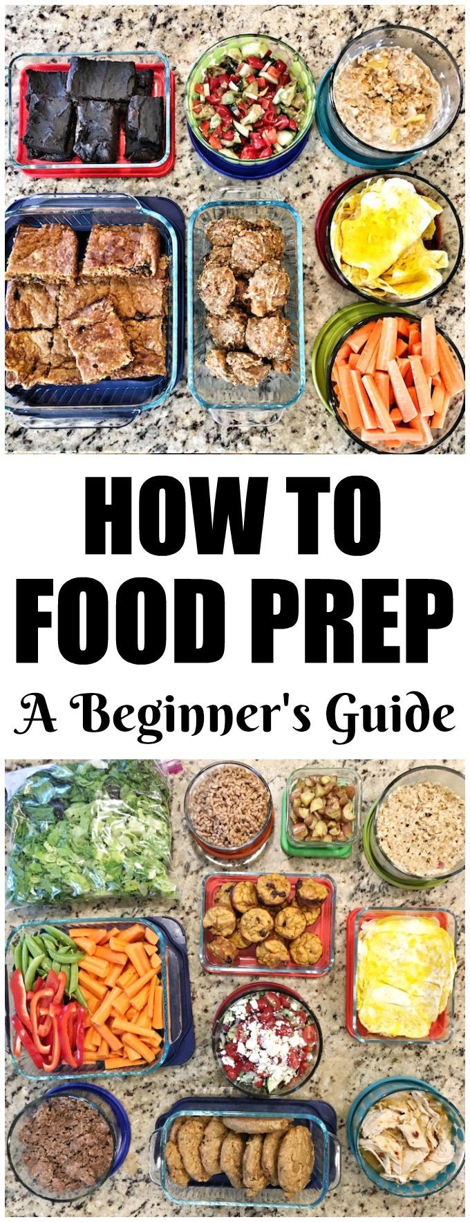 A Beginner's Guide To Food Prep. Follow these 5 simple steps to learn how to food prep. They will help you get organized and prepared so that your time prepping food is more productive and less stressful. Plus a step-by-step example!