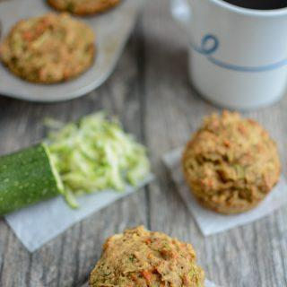 Zucchini Carrot Apple Muffins