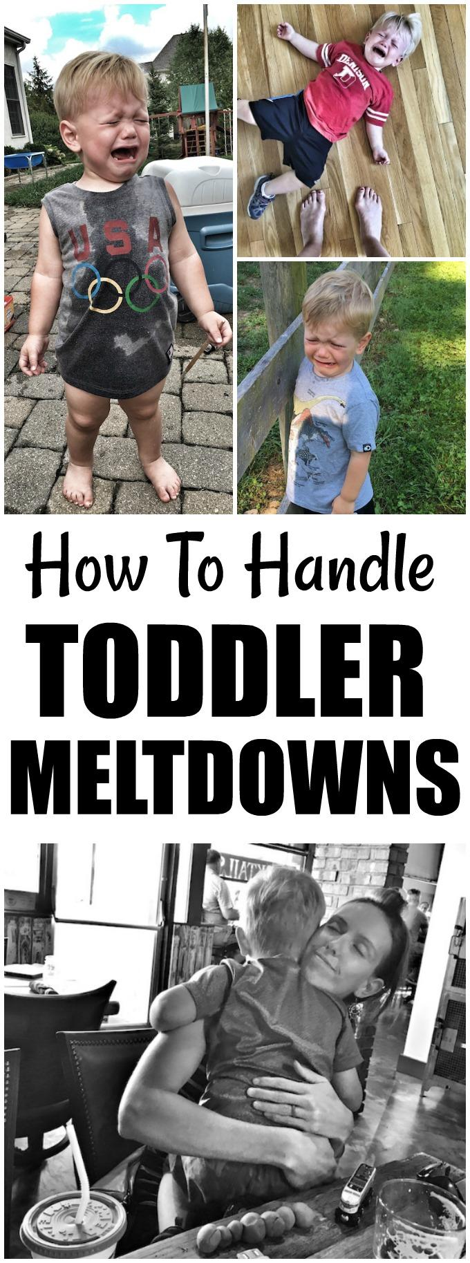 Learn how to handle toddler meltdowns in a way that's healthy for the child and the parents!