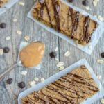 These Peanut Butter Chickpea Bars are perfect for breakfast or an after school snack. They're healthy, kid-friendly and easy to make. Plus they're vegan, gluten-free and dairy-free!