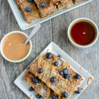 These Banana Baked OatmealFrench Toast Sticks are a healthy, kid-friendly breakfast recipe. They can even be made ahead of time, stored in the freezer and reheated in the microwave!