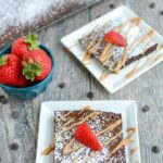 This Chocolate Sheet Cake is an easy dessert recipe and a fun change from a traditional round cake. Top with your favorite ice cream or a drizzle of peanut butter and some fresh strawberries.
