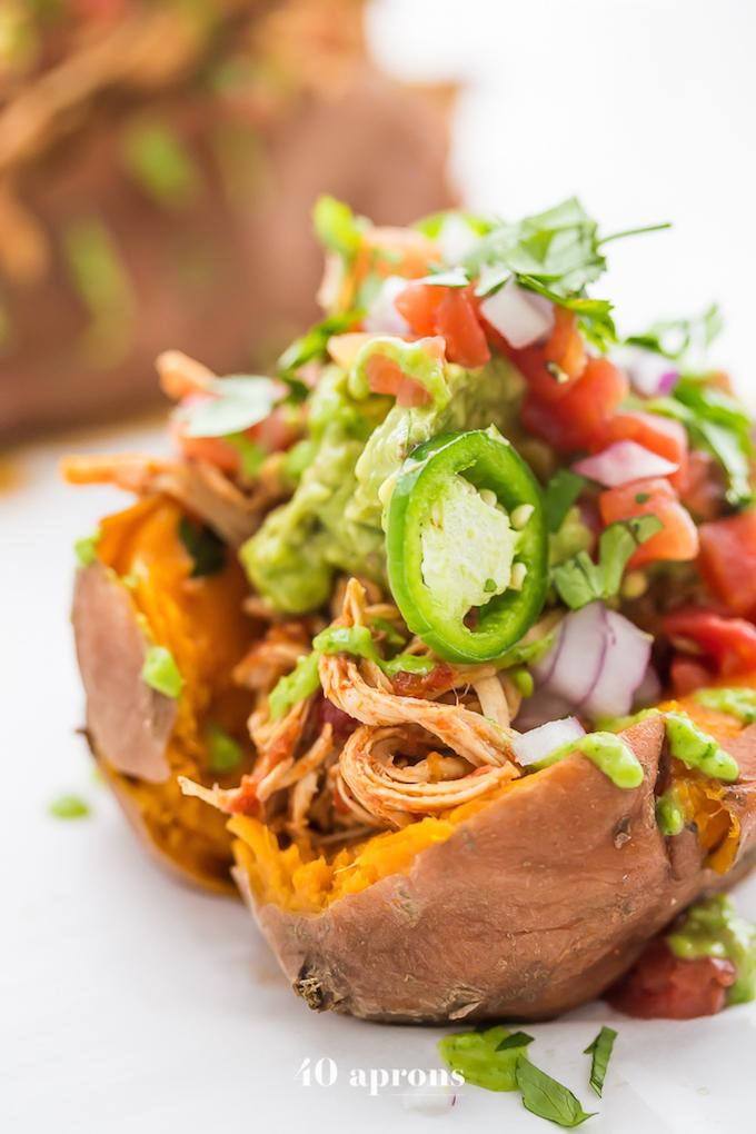 Mexican Chicken Stuffed Sweet Potatoes