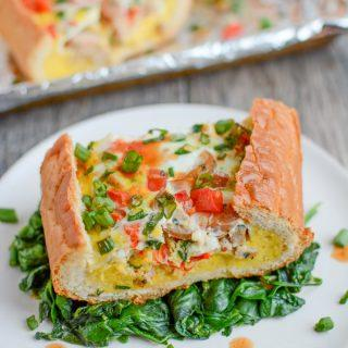Sausage and Egg Bread Boat