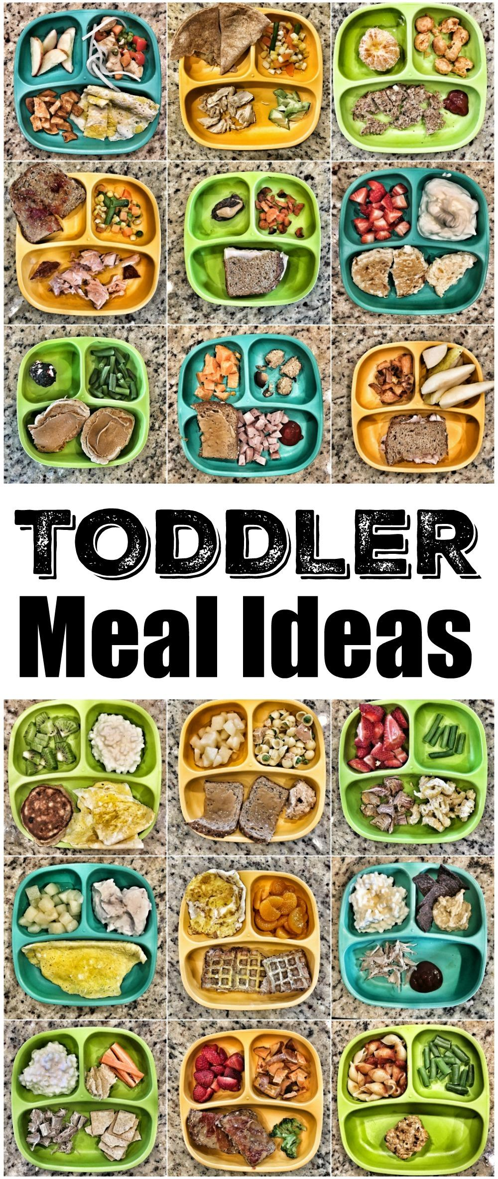 Use these Quick Toddler Meal Ideas to inspire some healthy new ideas for breakfast, lunch and dinner!