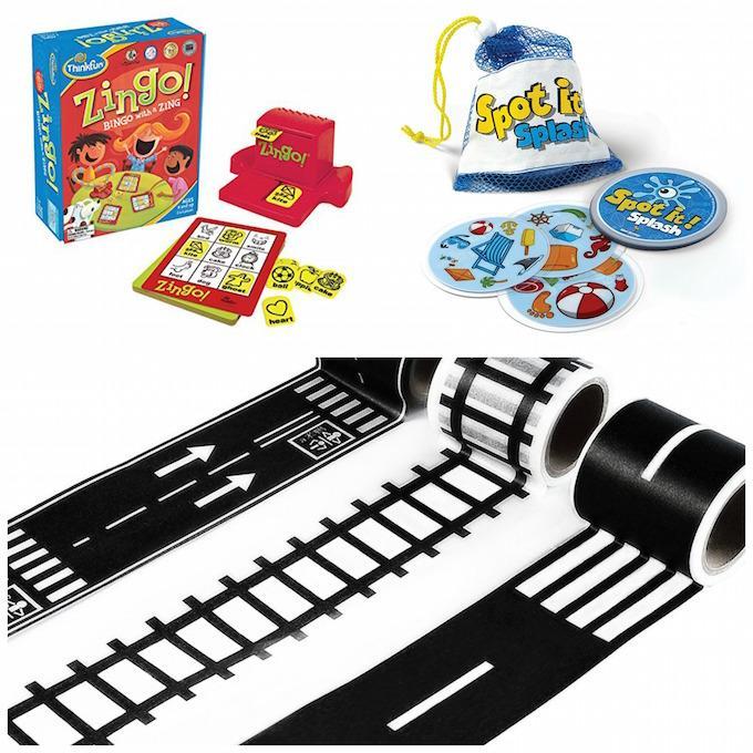zingo, spot it! splash and road tape