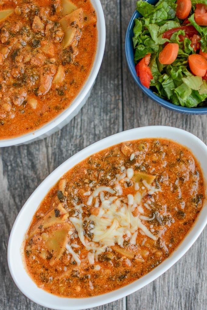 Instant Pot Vegetarian Lasagna Soup