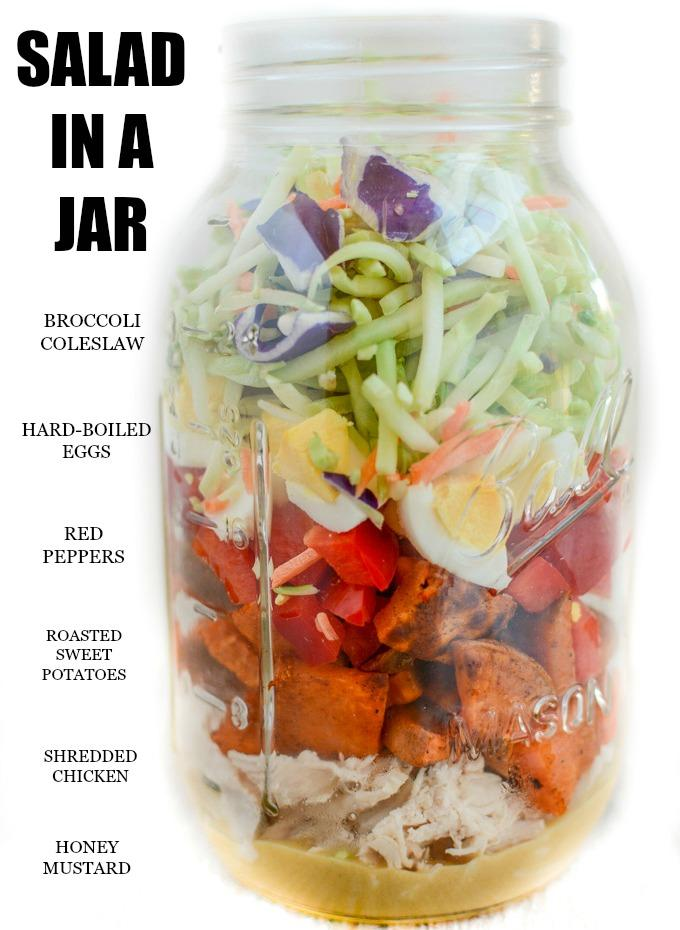 Broccoli Slaw Salad in a Jar ingredient list
