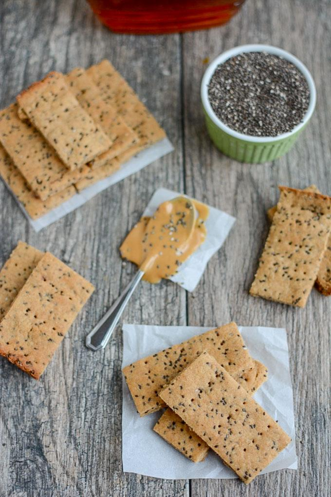 Peanut Butter Chia Crackers
