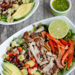 Pulled Pork Fajita Salad with Pineapple Salsa