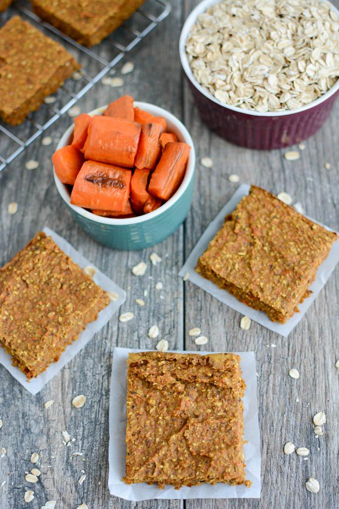 Healthy Carrot Oat Bars