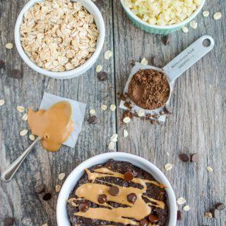 Chocolate Peanut Butter Cauliflower Oatmeal
