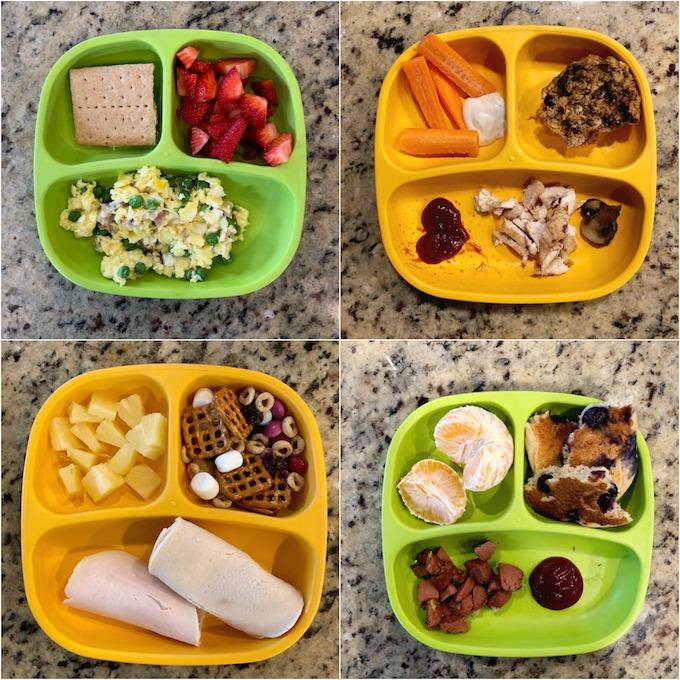 toddler meals on divided plates