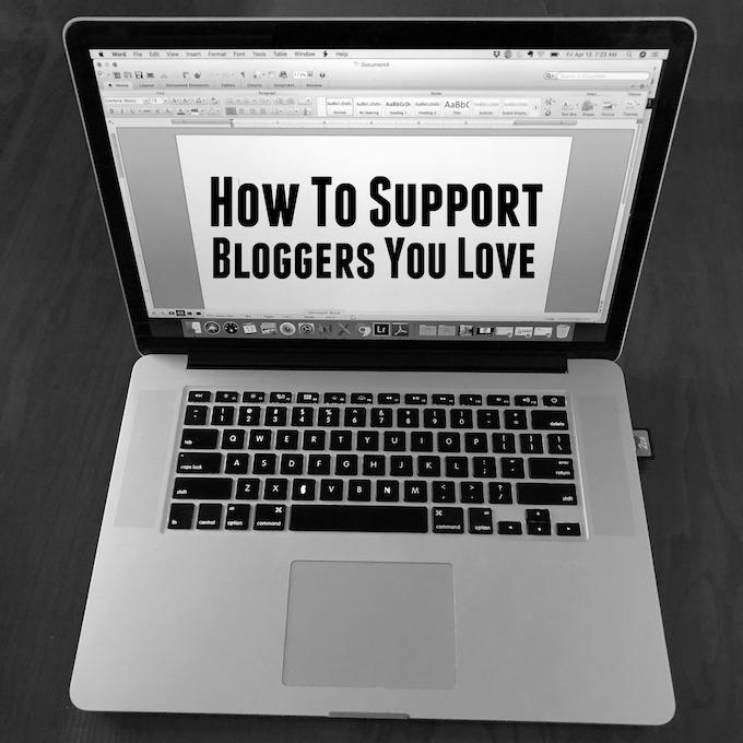How to support bloggers you love