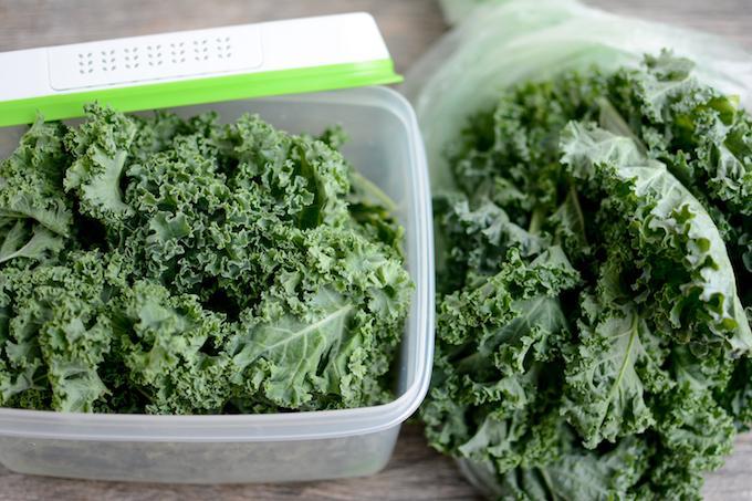 kale in rubbermaid freshworks vs plastic bag