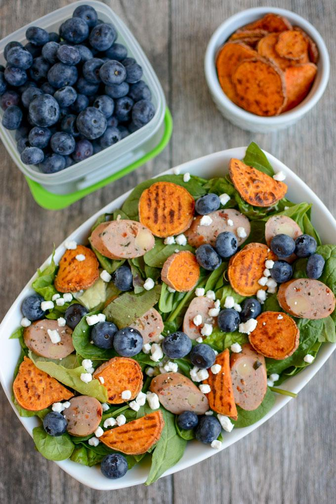 Blueberry Chicken Sausage Salad