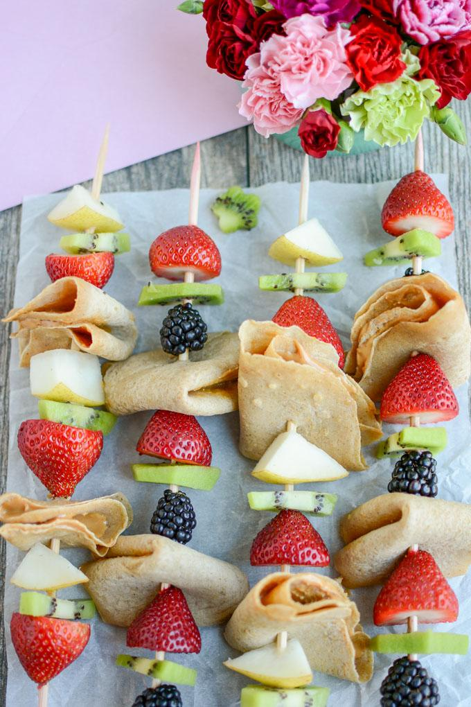 Fruit Crepe Kabobs