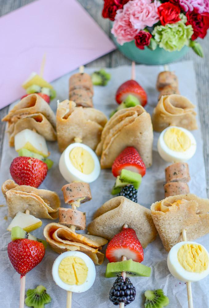 Sweet and Savory Crepe Kabobs