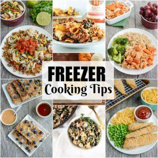 Freezer Cooking Tips to make healthy meals easier and less stressful.
