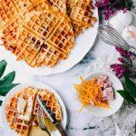 Ham and Cheese Buttermilk Waffles