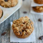 Cinnamon Raisin Sweet Potato Muffin with oat flour and flaxseed meal