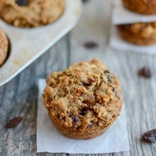 Cinnamon Raisin Sweet Potato Muffins