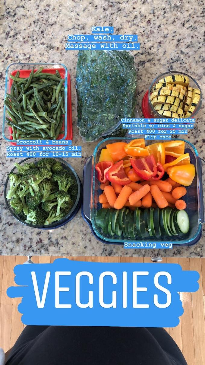 food prep veggies