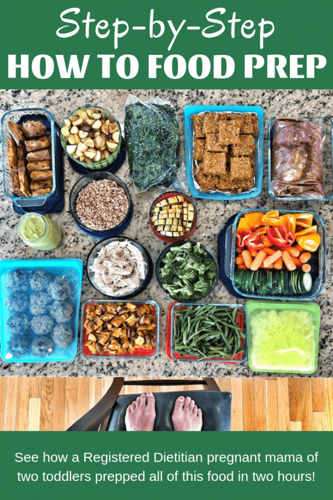 An example from a Registered Dietitian showing you How To Food Prep - Step By Step. I share what I prepped in 2 hours for a healthy week and what order I did things in so that I could utilize my time most efficiently.