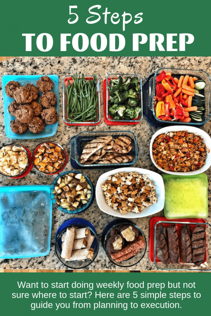 These 5 Steps to Food Prep are perfect for a beginner who likes the idea of meal prep but isn't sure where to start. With a little work, you'll head into your food prep session with a plan of attack to help you make the most of your time.