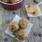 My easy go-to energy ball recipe made with dates, hemp, peanut butter and flax