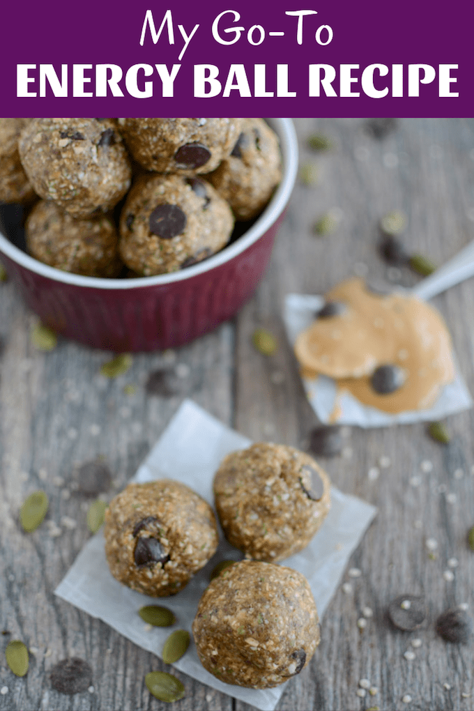 My Go-To Energy Ball Recipe is perfect for kids, nursing moms, athletes and anyone looking for a healthy snack. They're full of fiber, protein, and healthy fats and easy to prep ahead of time to keep your freezer stocked.