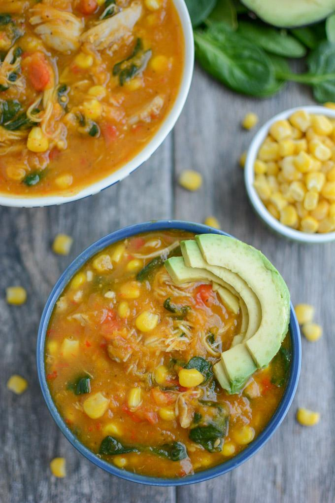 Instant Pot Sweet Potato Chicken Soup with slow cooker option