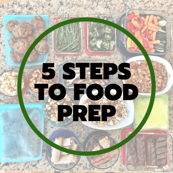 5 steps to food prep