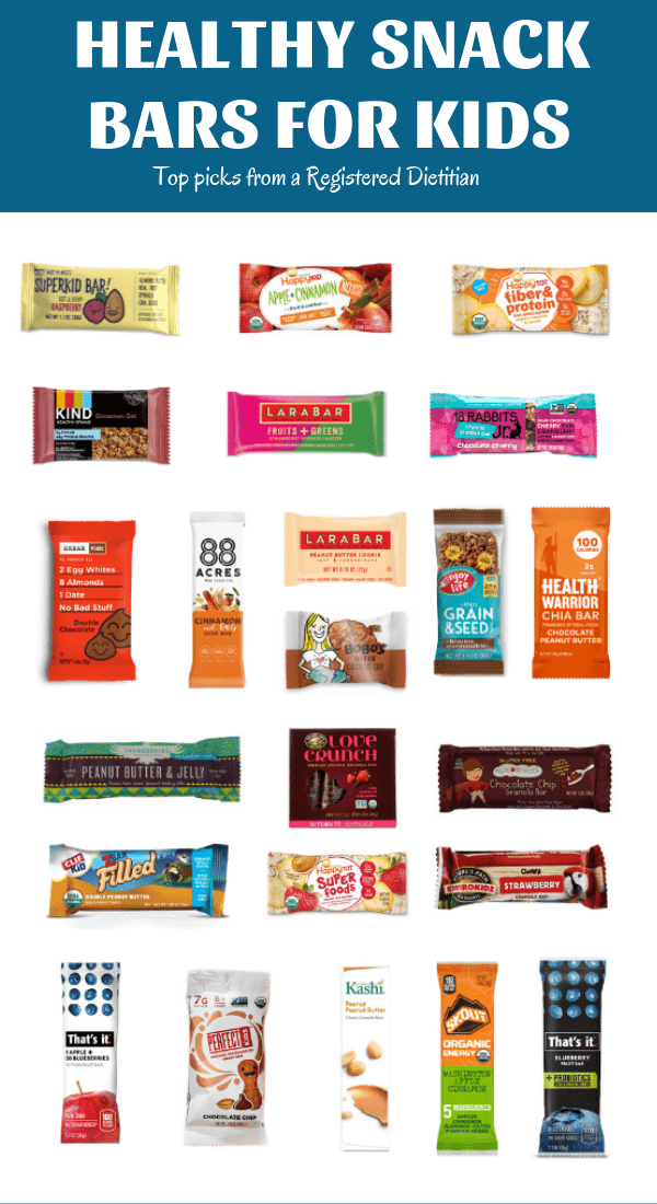 This list of healthy store bought granola bars for kids features top picks for snack bars from a Registered Dietitian. All have seven grams of added sugar or less and include some protein and fiber.