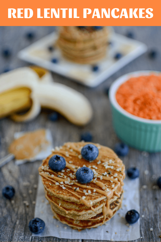 These Red Lentil Pancakes make a quick, kid-friendly breakfast or snack. Prep a batch ahead of time to reheat during the week or freeze some for a quick snack.