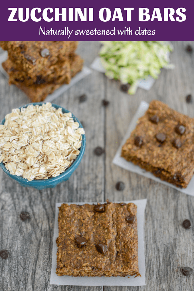 These high fiber Zucchini Oat Bars are naturally sweetened with dates. Top them with peanut butter for a quick, kid-friendly breakfast or snack!