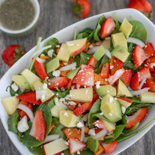 Loaded Strawberry Spinach Salad