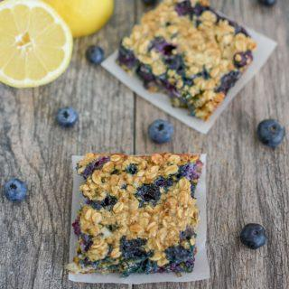 Lemon Blueberry Cheesecake Oat Bars