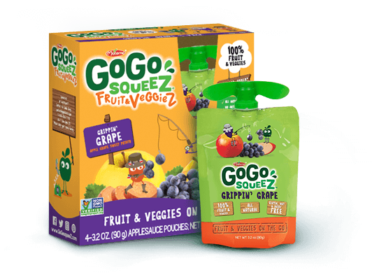 gogosqueez fruit and veggie