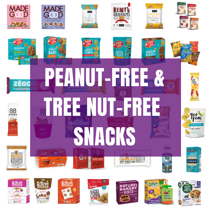 Peanut-free and Tree Nut-free Packaged Snacks for School