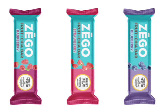 zego fruit and chia bars