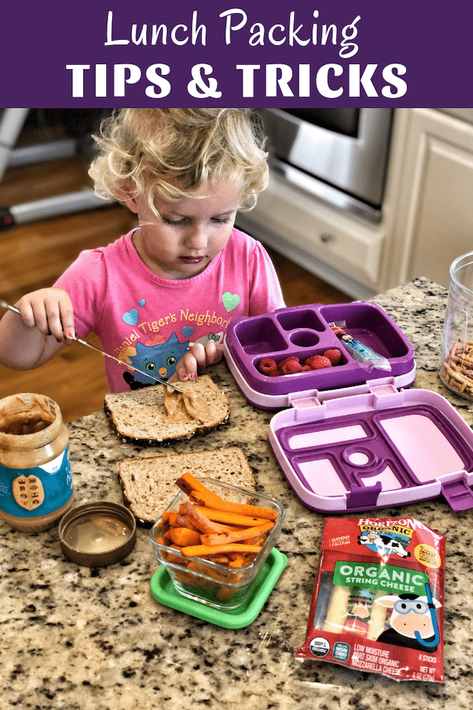 Looking for some school lunch packing tips? Here are 10 tips and tricks from a Registered Dietitian mama of 3 to help make it a little easier to quickly pack your kids a lunch they'll love!