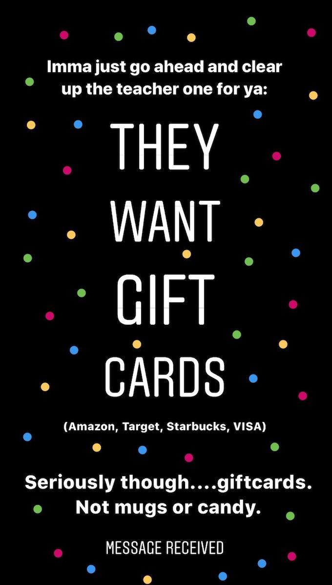 teacher gift suggestions