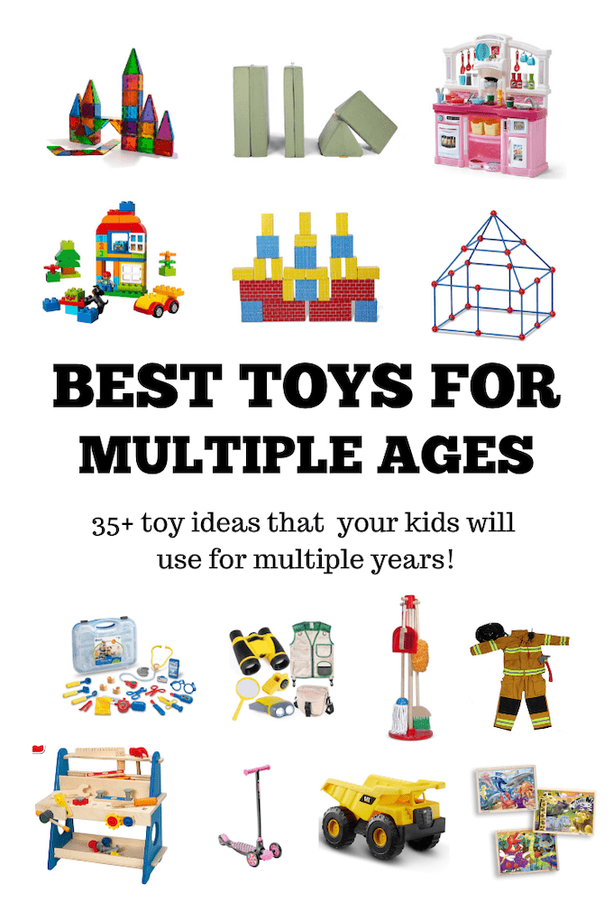 Look for the best toys for multiple ages? Here's a roundup of toys that all of my kids have played with for many years. They're great for entertaining a wide range of ages and perfect for keeping siblings entertained!