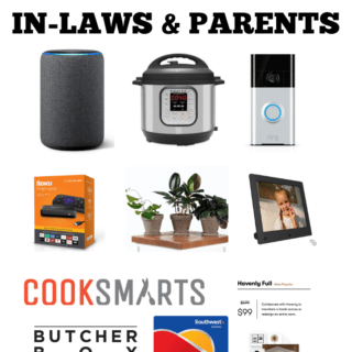 Looking for the best gifts for in-laws? Here's a roundup of fun, yet practical gift ideas that are perfect for in-laws, parents, grandparents etc!