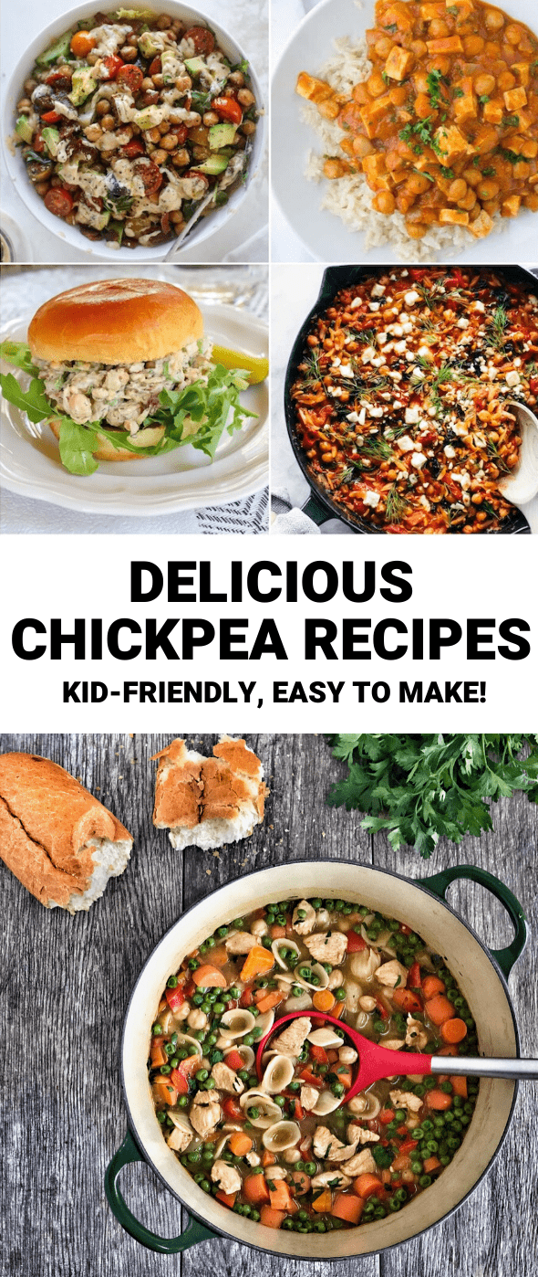 Looking for easy recipes using chickpeas? This list has something for everyone from salad to curry to soup! Add these to your lunch and dinner rotation ASAP.
