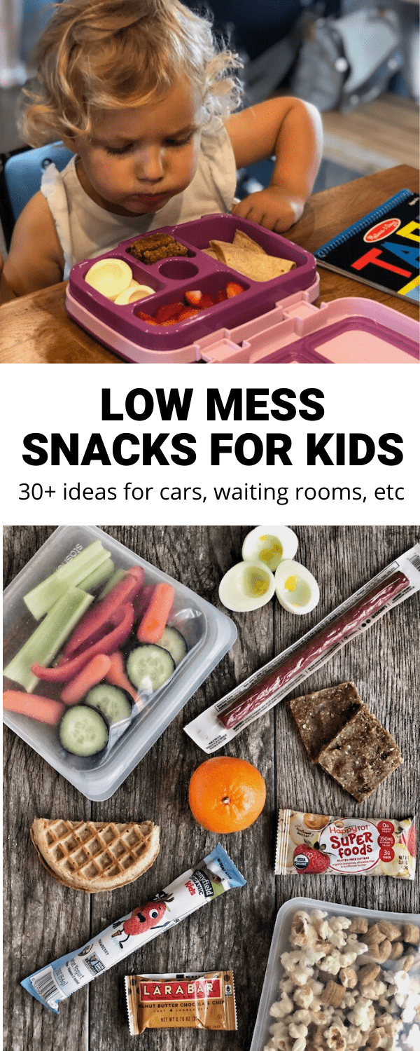 Low Mess Snacks for kids to eat in the car, waiting rooms and more!